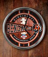 Cincinnati Bengals NFL Chrome Wall Clock