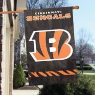 Cincinnati Bengals NFL Embroidered / Applique 2 - Sided Flag