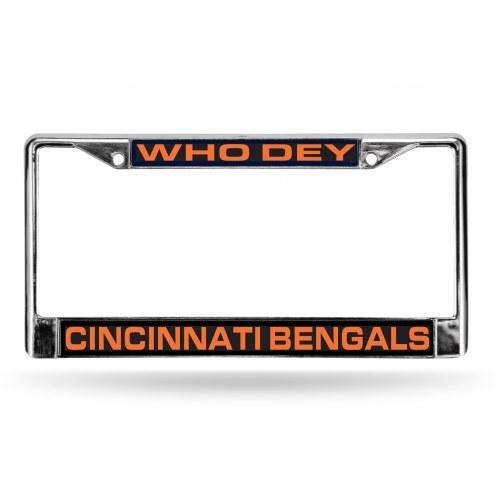 Cincinnati Bengals NFL Laser Chrome License Plate Frame