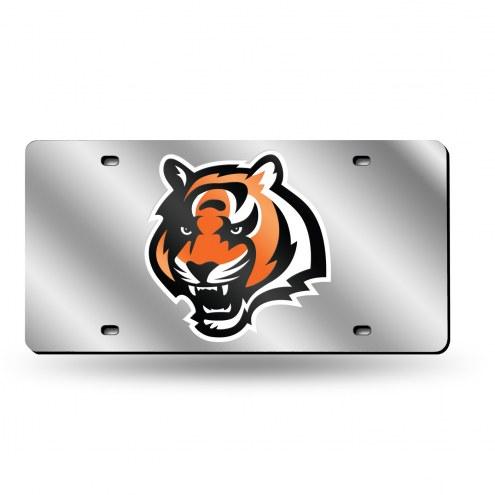 Cincinnati Bengals NFL Silver Laser License Plate
