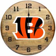 Cincinnati Bengals Oak Barrel Clock