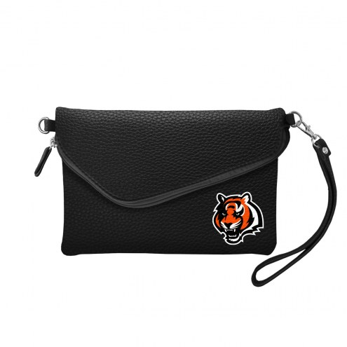 Cincinnati Bengals Pebble Fold Over Purse