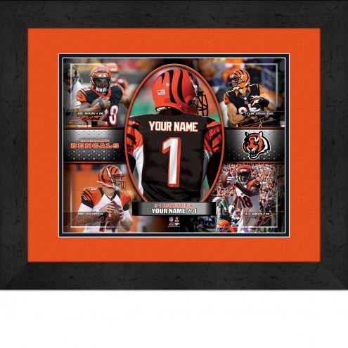 Cincinnati Bengals Personalized 13 x 16 Framed Action Collage