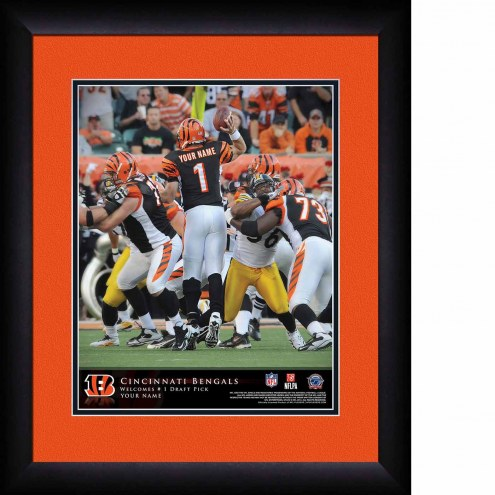 Cincinnati Bengals Personalized 13 x 16 NFL Action QB Framed Print