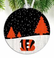 Cincinnati Bengals Snow Scene Ornament
