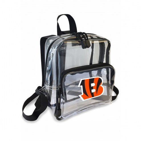 Cincinnati Bengals Stadium Friendly Clear Mini Backpack