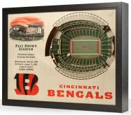 Cincinnati Bengals 25-Layer StadiumViews 3D Wall Art