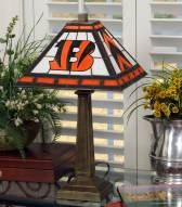 Cincinnati Bengals Stained Glass Mission Table Lamp