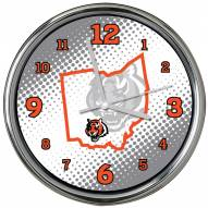 Cincinnati Bengals State of Mind Chrome Clock