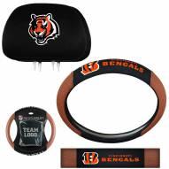 Cincinnati Bengals Steering Wheel & Headrest Cover Set