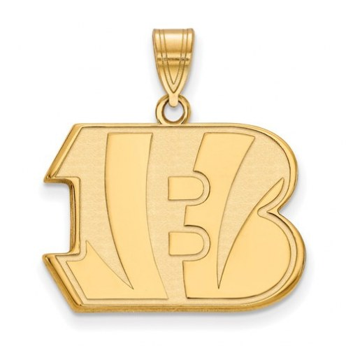 Cincinnati Bengals Sterling Silver Gold Plated Large Pendant