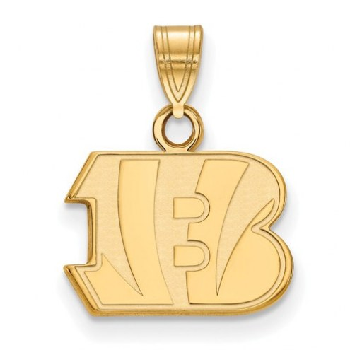 Cincinnati Bengals Sterling Silver Gold Plated Small Pendant