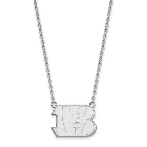 Cincinnati Bengals Sterling Silver Large Pendant with Necklace