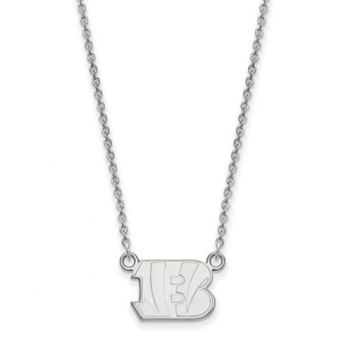 Cincinnati Bengals Sterling Silver Small Pendant with Necklace