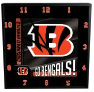 Cincinnati Bengals Team Black Square Clock