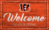 Cincinnati Bengals Team Color Welcome Sign