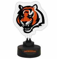 Cincinnati Bengals Team Logo Neon Light