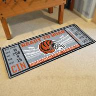 Cincinnati Bengals Ticket Runner Rug