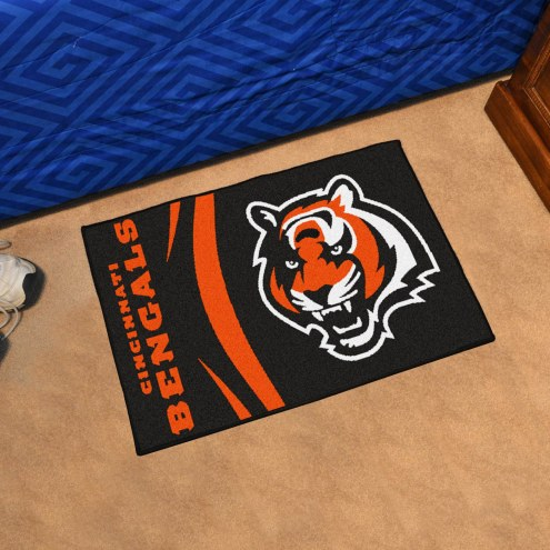 Cincinnati Bengals Uniform Inspired Starter Rug