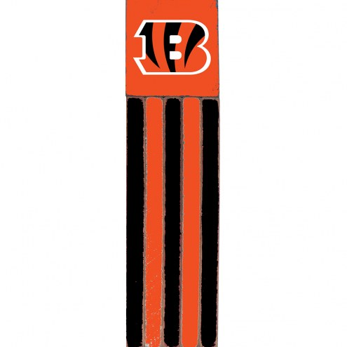 Cincinnati Bengals Vertical Flag Wall Sign