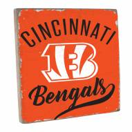 Cincinnati Bengals Vintage Square Wall Sign
