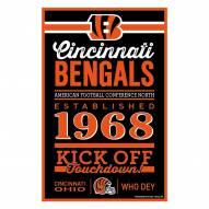 Cincinnati Bengals Established Wood Sign