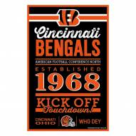 Cincinnati Bengals Established Wood Sign