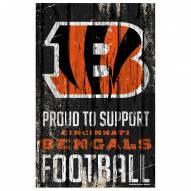 Cincinnati Bengals Proud to Support Wood Sign
