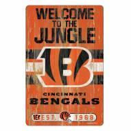 Cincinnati Bengals Slogan Wood Sign