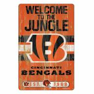 Cincinnati Bengals Slogan Wood Sign