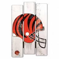 Cincinnati Bengals Wood Fence Sign