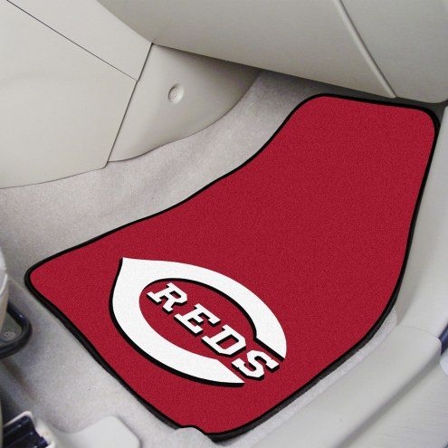 Cincinnati Reds 2-Piece Carpet Car Mats