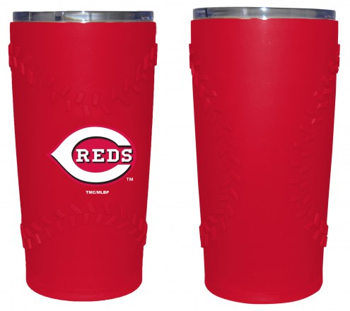 Cincinnati Reds 20 oz. Stainless Steel Tumbler with Silicone Wrap