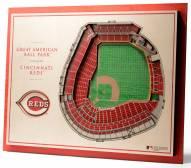 Cincinnati Reds 5-Layer StadiumViews 3D Wall Art