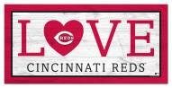 """Cincinnati Reds 6"""" x 12"""" Love Sign"""