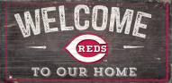 """Cincinnati Reds 6"""" x 12"""" Welcome Sign"""