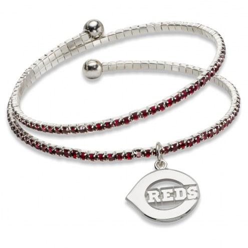 Cincinnati Reds Amped Logo Crystal Bracelet