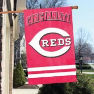 Cincinnati Reds Applique 2-Sided Banner Flag
