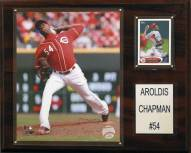"Cincinnati Reds Aroldis Chapman 12"" x 15"" Player Plaque"