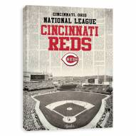 Cincinnati Reds Newspaper Stadium Printed Canvas