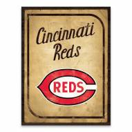 Cincinnati Reds Vintage Card Printed Canvas