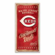 Cincinnati Reds Watercolor Printed Canvas