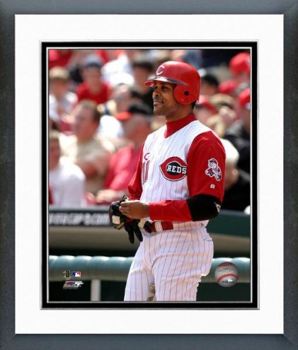 Cincinnati Reds Barry Larkin Action Framed Photo