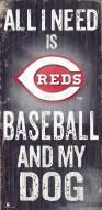 Cincinnati Reds Baseball & My Dog Sign