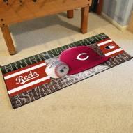 Cincinnati Reds Baseball Runner Rug
