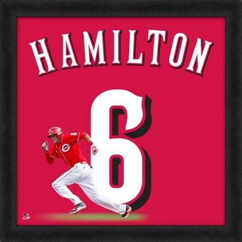 Cincinnati Reds Billy Hamilton Uniframe Framed Jersey Photo