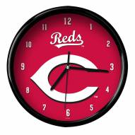 Cincinnati Reds Black Rim Clock