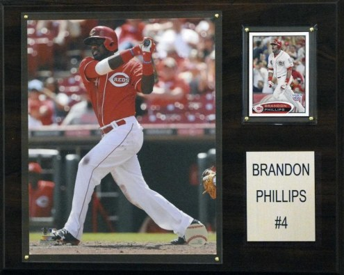 "Cincinnati Reds Brandon Phillips 12"" x 15"" Player Plaque"