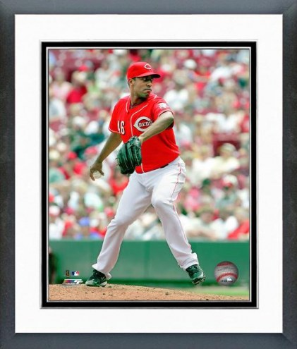 Cincinnati Reds Carlos Fisher pitching Framed Photo