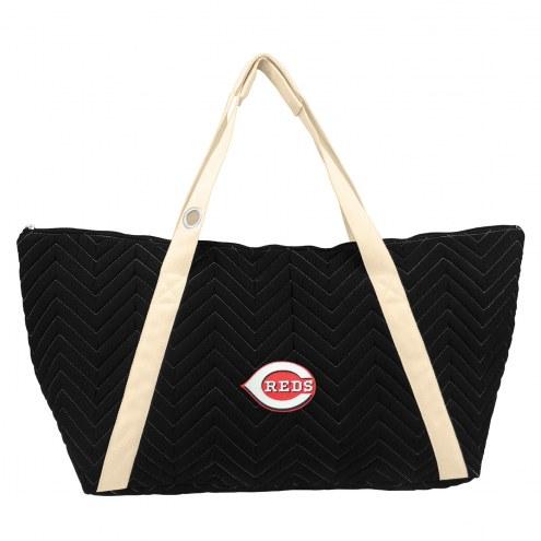 Cincinnati Reds Chevron Stitch Weekender Bag